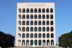 Squared Colosseum in Rome stock photo