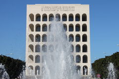 Squared Colosseum in Rome Stock Photos