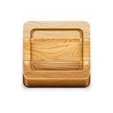 Squared cutting board isolated on white Stock Photography