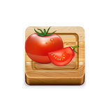 Squared cutting board  on white Stock Image