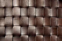 Squared dark brown leather texture Stock Photography