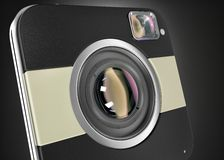 Squared digital camera Royalty Free Stock Images