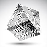 Squared eps8 striped contrast object. Symmetric rectangular obje Royalty Free Stock Photos