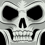 Squared Faced Angry Skull Stock Image