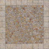Squared floor ceramic tile with little stones Stock Image