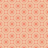 Squared flowers n stars seamless background pattern illustration in orange background. Seamless vector background illustrations for use in web backgrounds , art Stock Photo