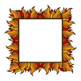Squared frame with spurts of flame. Vector illustration. Colorful squared frame with spurts of flame. Vector illustration. Rock'n'roll style Stock Photo