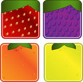 Squared Fruits Collection 1 Stock Images