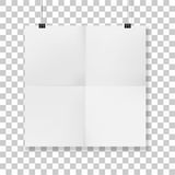 Squared hanged folded Paper vector Sheet Royalty Free Stock Photography