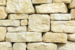 Squared light-beige stones Royalty Free Stock Photography