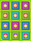 Squared Lined and Circled Lime Green Royalty Free Stock Photo