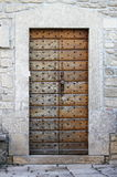 Squared medieval front door Royalty Free Stock Photo