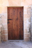Squared medieval front door Royalty Free Stock Photography
