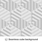 Squared monochrome pattern. Seamless geometric texture in grey color. Black and white stylish tiles. 3d abstract dynamic backgroun. D created of cubes Royalty Free Stock Image
