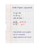 Squared Note Paper. Blank Sheet | EPS10 Vector Graphic | Layers Organised and Named Royalty Free Stock Images