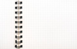 Squared notebook sheet Stock Photos
