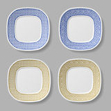 Squared ornamental plates Stock Photography
