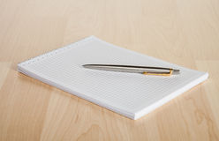 Squared paper loose-leaf note sheet Royalty Free Stock Photo