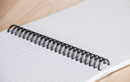 Squared paper loose-leaf note sheet Royalty Free Stock Images