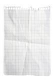 Squared Paper Notepad Sheet royalty free stock photos