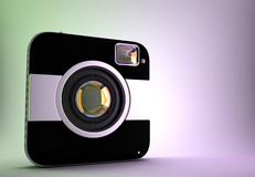 Squared photo camera Royalty Free Stock Images