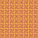 Squared seamless pattern with symmetric geometric ornament. Stock Photo