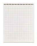 Squared spiral notebook Stock Image