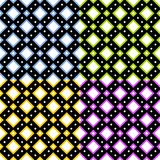 Squared tile pattern in four colored variation Stock Image