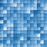 Squared Tiles. Abstract Random Tile of Blue Colors of Various Tones and Saturation Stock Photo