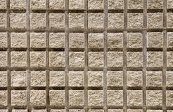 Squared wall made of cement texture Stock Photography