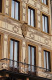 Squared windows. In a renaissance palace of Florence, Italy Royalty Free Stock Images