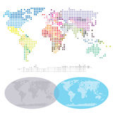 Squared World Continents map Stock Photography