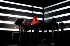 Squarepusher在生波探侧器节日的电子, techno和四周带生活表现 库存照片