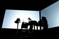 Squarepusher (电子, techno和四周带)执行在生波探侧器节日 库存图片