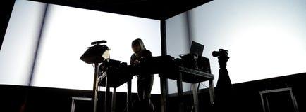 Squarepusher (电子, techno和四周带)执行在生波探侧器节日 图库摄影