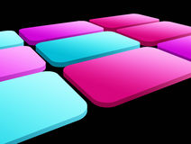 Squares. Blue and fuchsia squares  over background. abstract  background Stock Photo