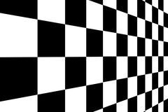 Squares. Black and white squares with perspective. Background Royalty Free Stock Image