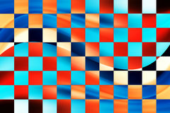 Squares. Blue and red sqares with dynamic wave Stock Photo