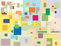 Squares. Plural, many-coloured background with squares Stock Image