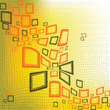 Squares abstract background stock images