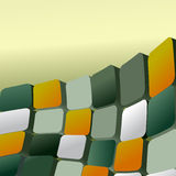 Squares abstract background. Futuristic business 3d blocks, geometric vector backdrop Royalty Free Stock Photo