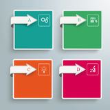 4 Squares Arrows Infographic Royalty Free Stock Image