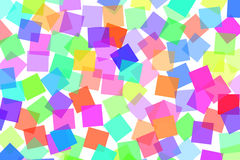 Squares background. Squares of different colors drawn on a white background Royalty Free Stock Photography