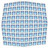 Squares background. Blue squares illustration at the white background Stock Photos
