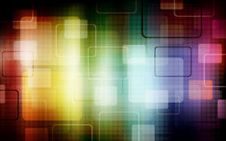 Squares background. Abstract shapes with circles Royalty Free Stock Images