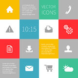 Squares background infographics with vector icons Stock Photos