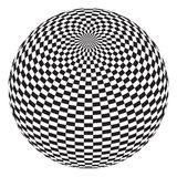 Squares On The Ball Royalty Free Stock Images