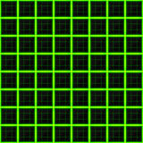 Squares of black stone with green streaks of energy.  Stock Photo