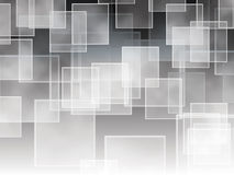 Squares on a black and white gradient Stock Image