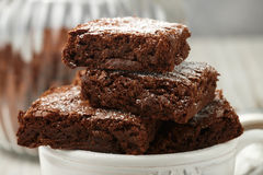 Squares brownie stock image